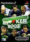 Car�tula oficial de de World Championship Snooker 2003 para PS2