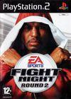 Cartula oficial de de EA Sports Fight Night Round 2 para PS2