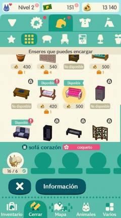 Cómo crear objetos en Animal Crossing Pocket Camp
