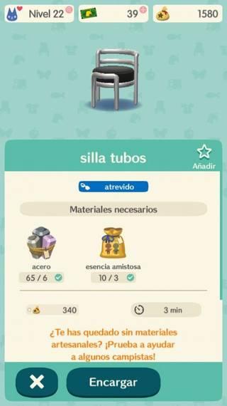 Objetos Animal Crossing Pocket Camp
