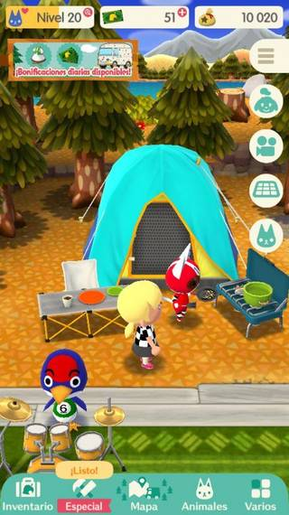 Tienda natural Animal Crossing Pocket Camp