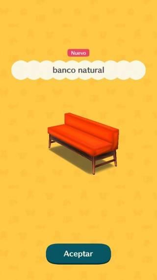 Banco natural Animal Crossing Pocket Camp