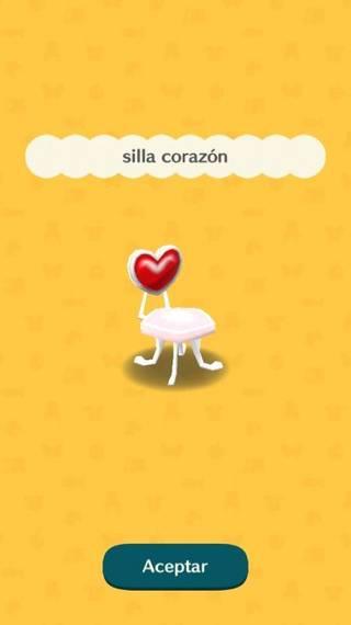 Silla corazón Animal Crossing Pocket Camp