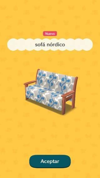 Sofá nórdico Animal Crossing Pocket Camp