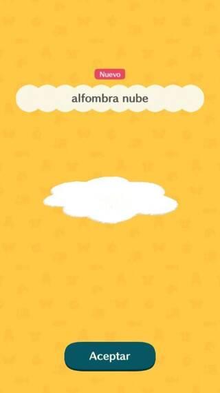 Alfombra nube Animal Crossing Pocket Camp
