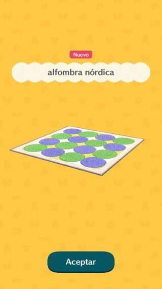 Alfombra nórdica Animal Crossing Pocket Camp
