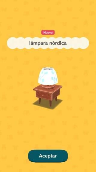 Lámpara nórdica Animal Crossing Pocket Camp