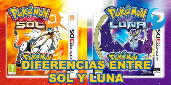 Éstas son las diferencias entre Pokémon Sol Vs Pokémon Luna