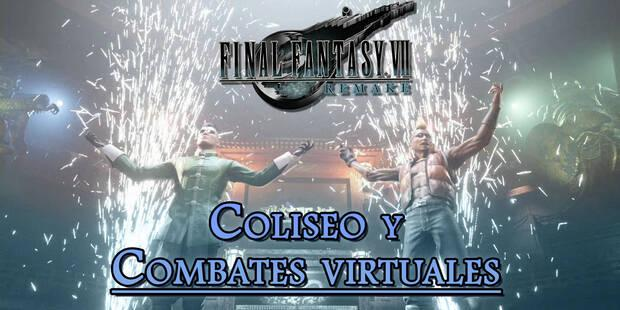 Coliseo y combates virtuales en Final Fantasy VII Remake