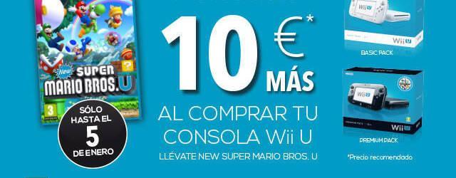 Consigue, hasta el D�a de Reyes, New Super Mario Bros. U por 10� al comprar una Wii U
