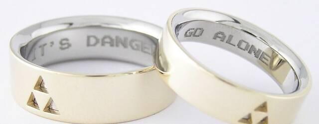 Crean unos anillos de boda inspirados en The Legend of Zelda