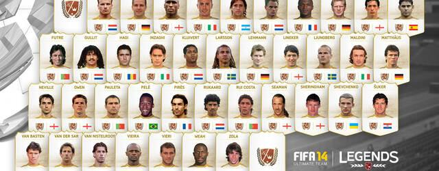 Desveladas las leyendas que incluir� FIFA 14 Ultimate Team en Xbox One