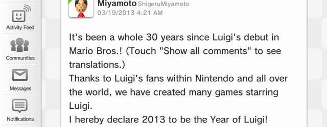 Miyamoto hace su debut oficial en Miiverse