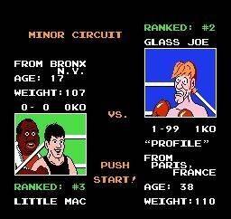 Mike Tyson nunca pudo derrotar a Glass Joe en Punch Out