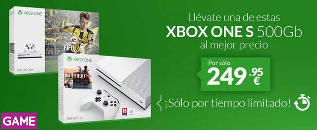 Game anuncia una rebaja temporal de packs de Xbox One S