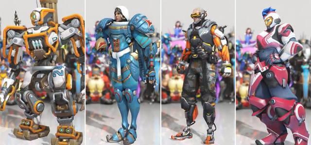 Estas son las cuatro nuevas skins de Overwatch