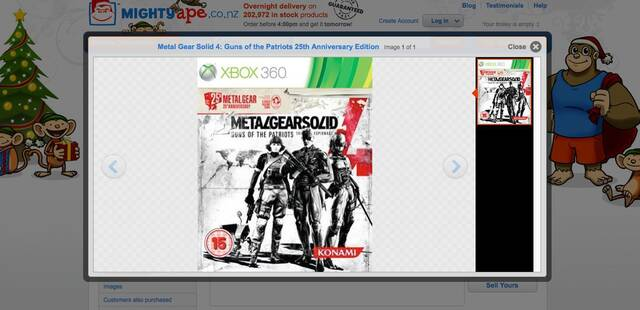 Konami niega una edici�n 25 aniversario de Metal Gear Solid 4 en Xbox 360