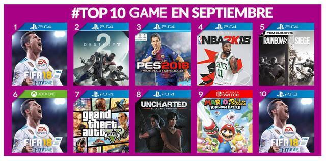 Estos han sido los juegos más vendidos en GAME en septiembre