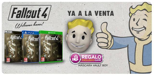 GAME regala una careta de Vault-Boy por la compra de Fallout 4