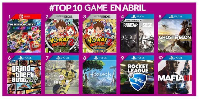 Mario Kart 8 Deluxe fue lo más vendido del mes de abril en GAME