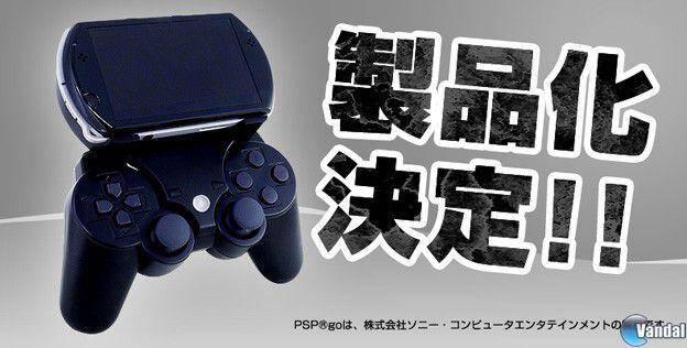 Un accesorio para conectar el mando de PS3 con una PSP Go
