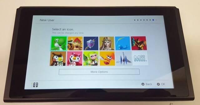 El primer 'unboxing' de Nintendo Switch muestra la interfaz de la consola