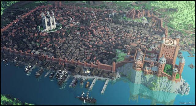 Recrean Desembarco del Rey de Juego de Tronos en Minecraft