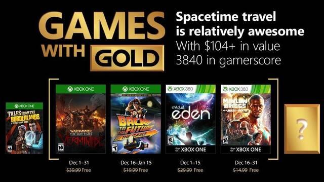 Anunciados los Juegos con Gold de diciembre