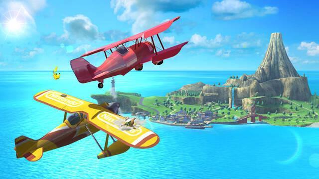 El escenario de Pilotwings se muestra en Super Smash Bros.