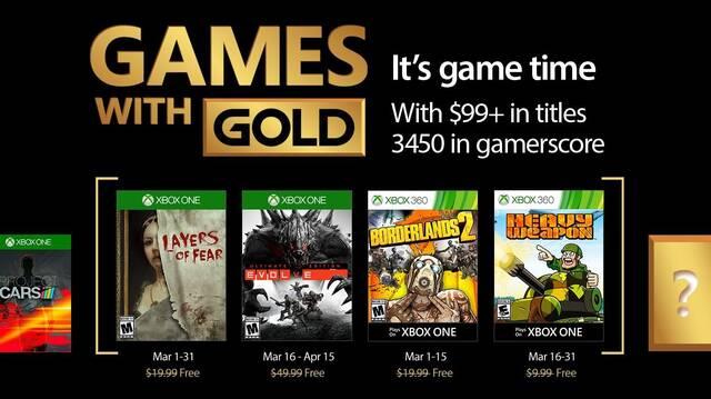 Anunciados los Juegos con Gold de marzo