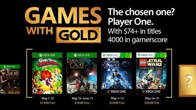 Anunciados los Juegos con Gold de mayo