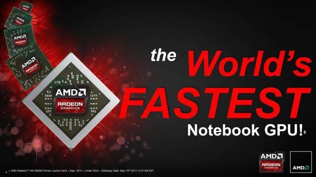 AMD presenta 'la tarjeta gr�fica para port�tiles m�s r�pida del mundo'