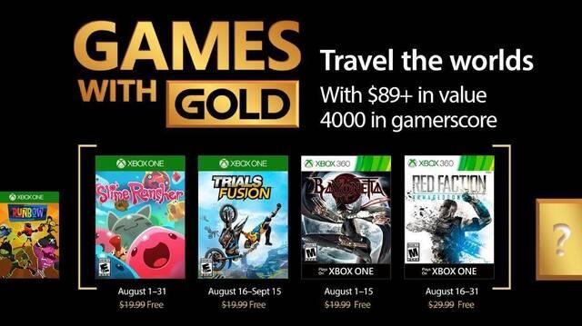 Anunciados los Juegos con Gold de agosto