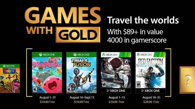 Ya disponibles los juegos para suscriptores de Xbox Live Gold