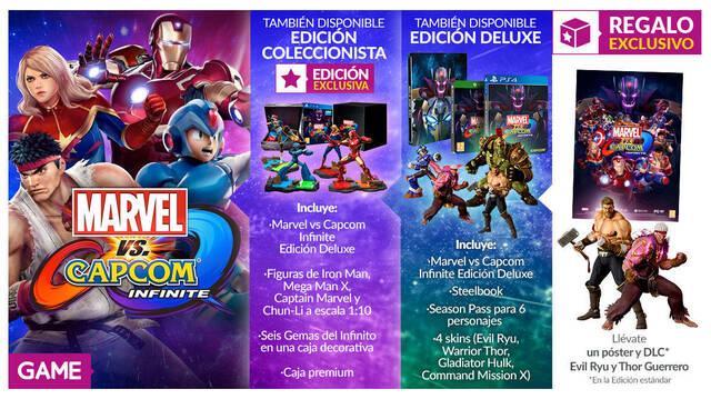 GAME repasa sus ediciones e incentivos para Marvel vs. Capcom: Infinite