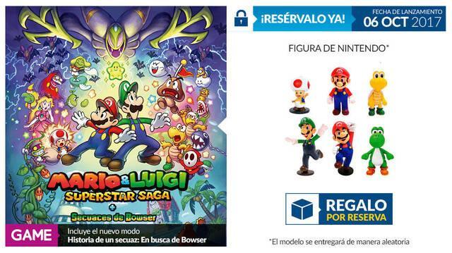 GAME detalla sus incentivos por reserva para Mario & Luigi: Superstar Saga