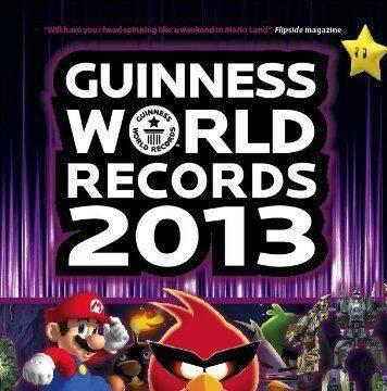 Anunciada la edición para jugadores 2013 del Libro Guinness de los Records