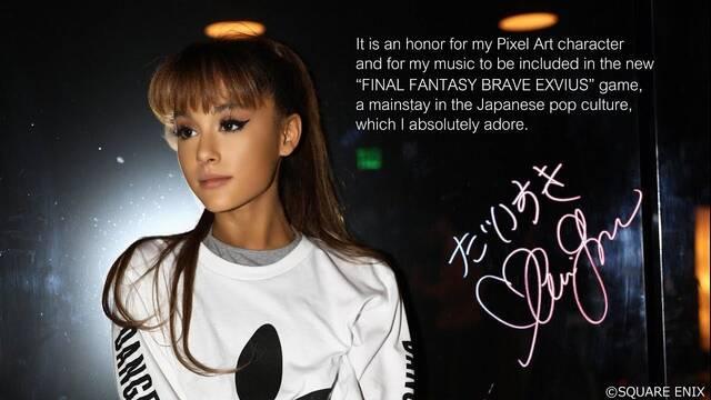 Square Enix da nuevos detalles de la colaboración de Ariana Grande en Final Fantasy Brave Exvius