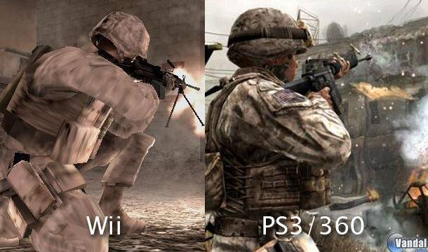 Comparan Call of Duty 4 de Wii con el original