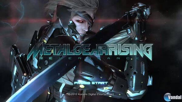 Se muestra la pantalla inicial de la demo de Metal Gear Rising: Revengeance