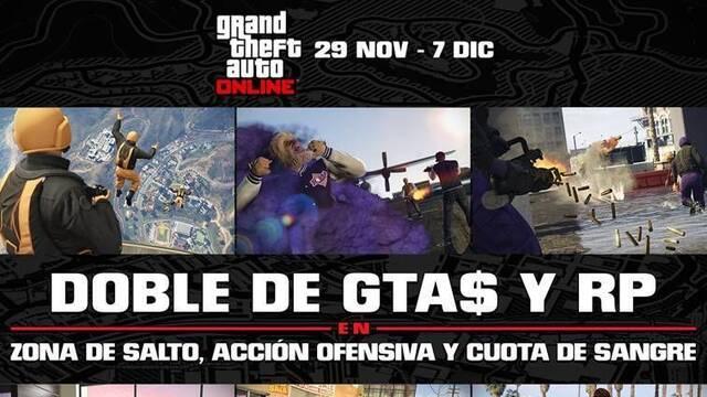 Consigue el doble de GTA$ y RP jugando a GTA Online hasta el 7 de diciembre