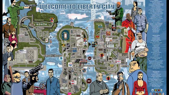 Rockstar desvela los mapas digitales de GTA 3, Vice City y San Andreas