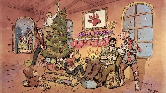 Naughty Dog nos felicita la Navidad con una ilustración