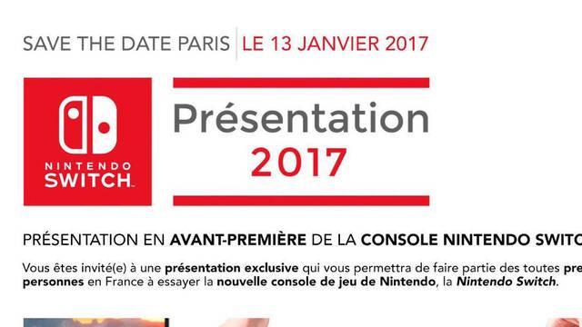 Nintendo anuncia un nuevo evento de Switch para la prensa en París el 13 de enero