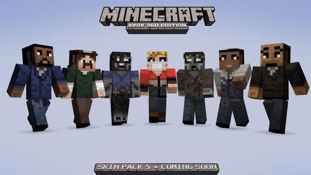 Minecraft para Xbox 360 recibirá un paquete de 'skins' de The Walking Dead