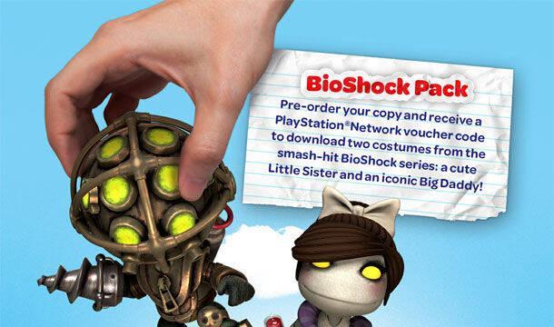 Disfraces de Bioshock y caballeros en la reserva de LittleBigPlanet Vita