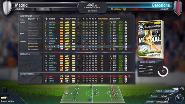 Primeras pantallas de FX Fútbol, el 'sucesor espiritual' de PC Fútbol