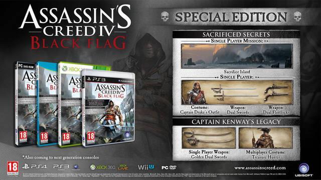 Desveladas las ediciones especiales de Assassin's Creed IV: Black Flag