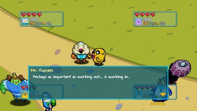 Los juegos de Hora de Aventuras y Regular Show se muestran en pantallas