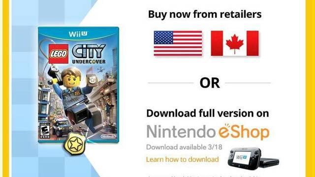 LEGO City Undercover recomienda disco duro si se compra digitalmente